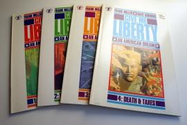 Frank Miller & Dave Gibbons: Give Me Liberty 1-4 (käytetty)
